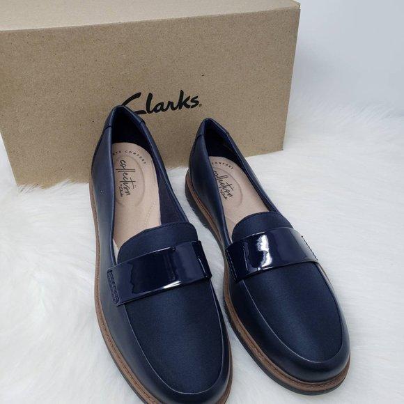 Clarks Womens Loafer Raisie Arlie Navy